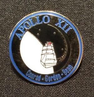 NASA Apollo 12 Mission Lapel Pin